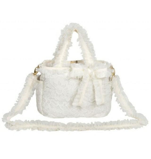 【即納】FOR PETS ONLY MOMMY BAG LACE ママバッグレース IVORY (PE2021-B11)