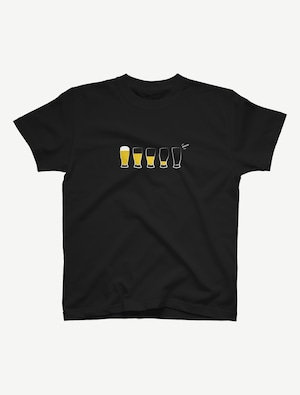 【モア・ビア】Tシャツ(ブラック)