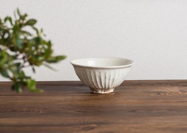 鉄散 線彫 めし碗 小(信楽焼・ご飯茶碗・ちゃわん)/古谷 浩一