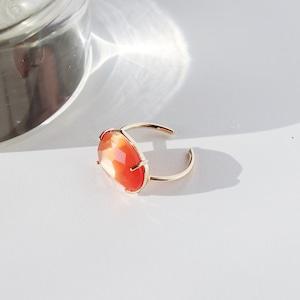 RING || 【通常商品】 SWEET CANDY RING (GOLD×ORANGE) || 1 RING || GOLD×ORANGE || FBA015