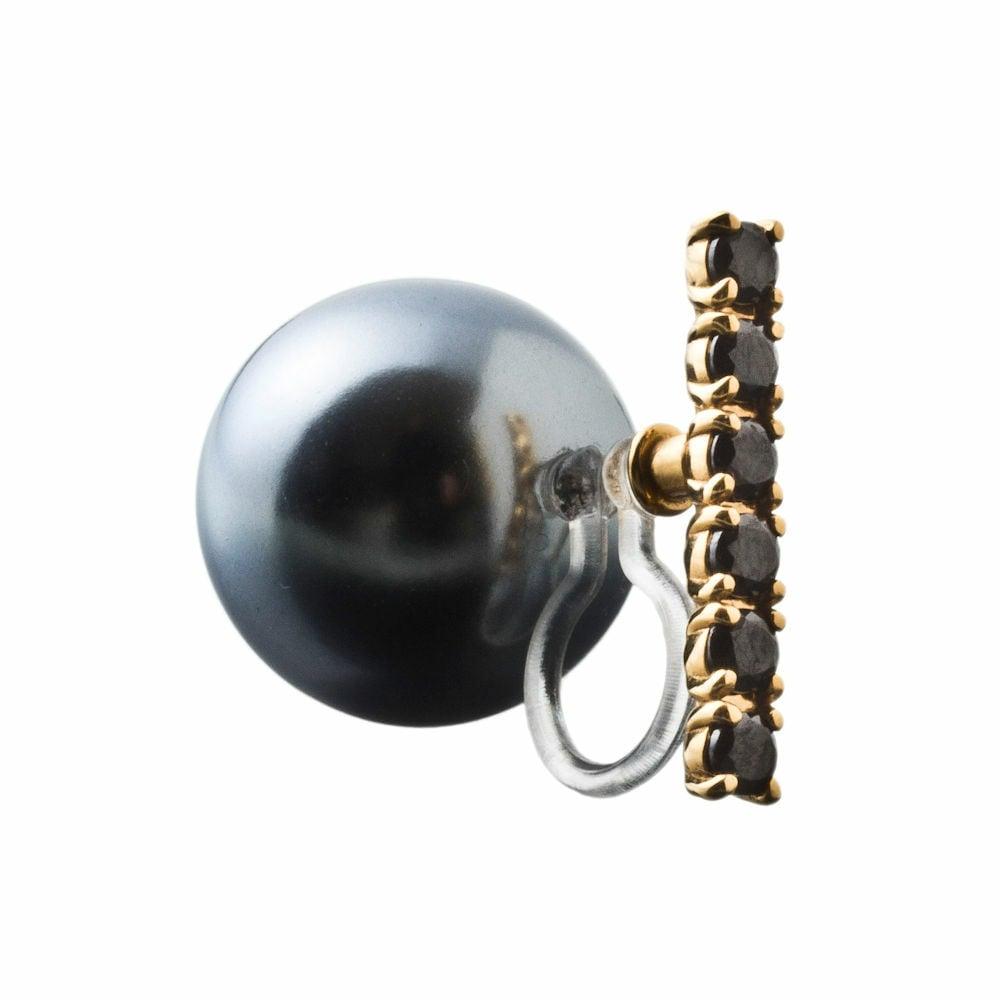 Black ball non-hole pierce ブラックボールノンホールピアス(片耳用)ELNH0002I