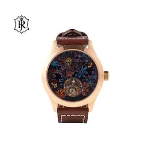 JOHNNYROGER メンズ 腕時計 フライングトゥールビヨン Tourbillon Fiore