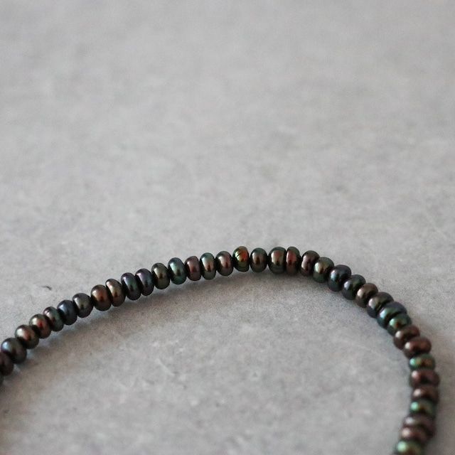 ブラックパール 3連ブレスレット