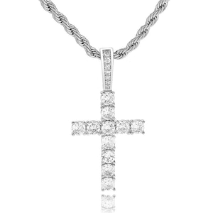 Iced Out Cross Necklace