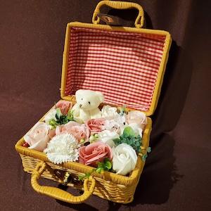 Bear bag (ベアバッグ)ピンク【シャボンフラワー】