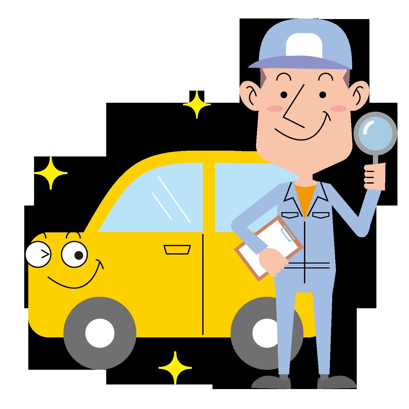 〈無料イラスト素材〉作業員・自動車整備士の表情・ポーズいろいろ