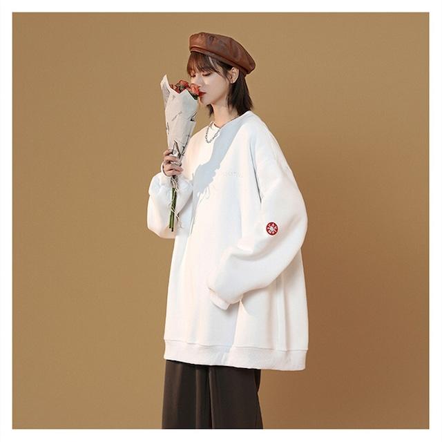 【トップス】ファッションシンプルルーズラウンドネックパーカー52313865