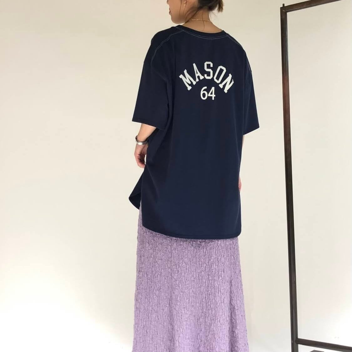【 chignon 】- 8211-006- 配色stヘムラウンドT
