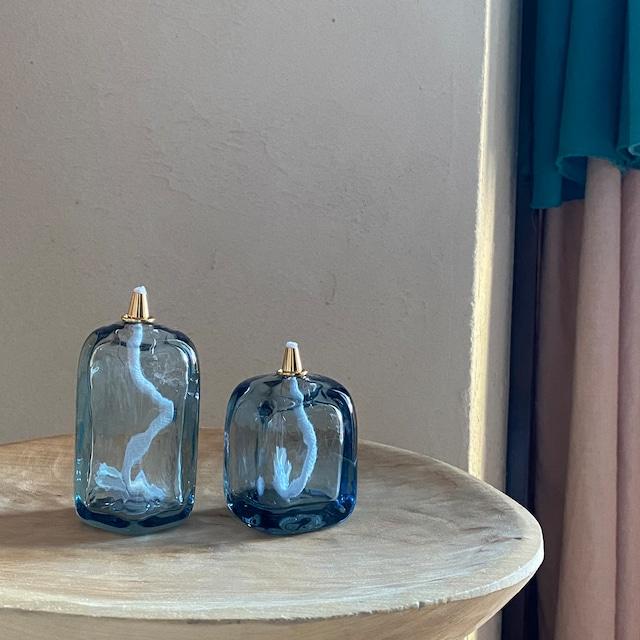 Oil lamp Blue square Sサイズ オイル付