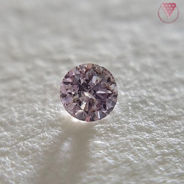 0.067 ct F.Br.Pur.Pink I1 天然 ピンク ダイヤ