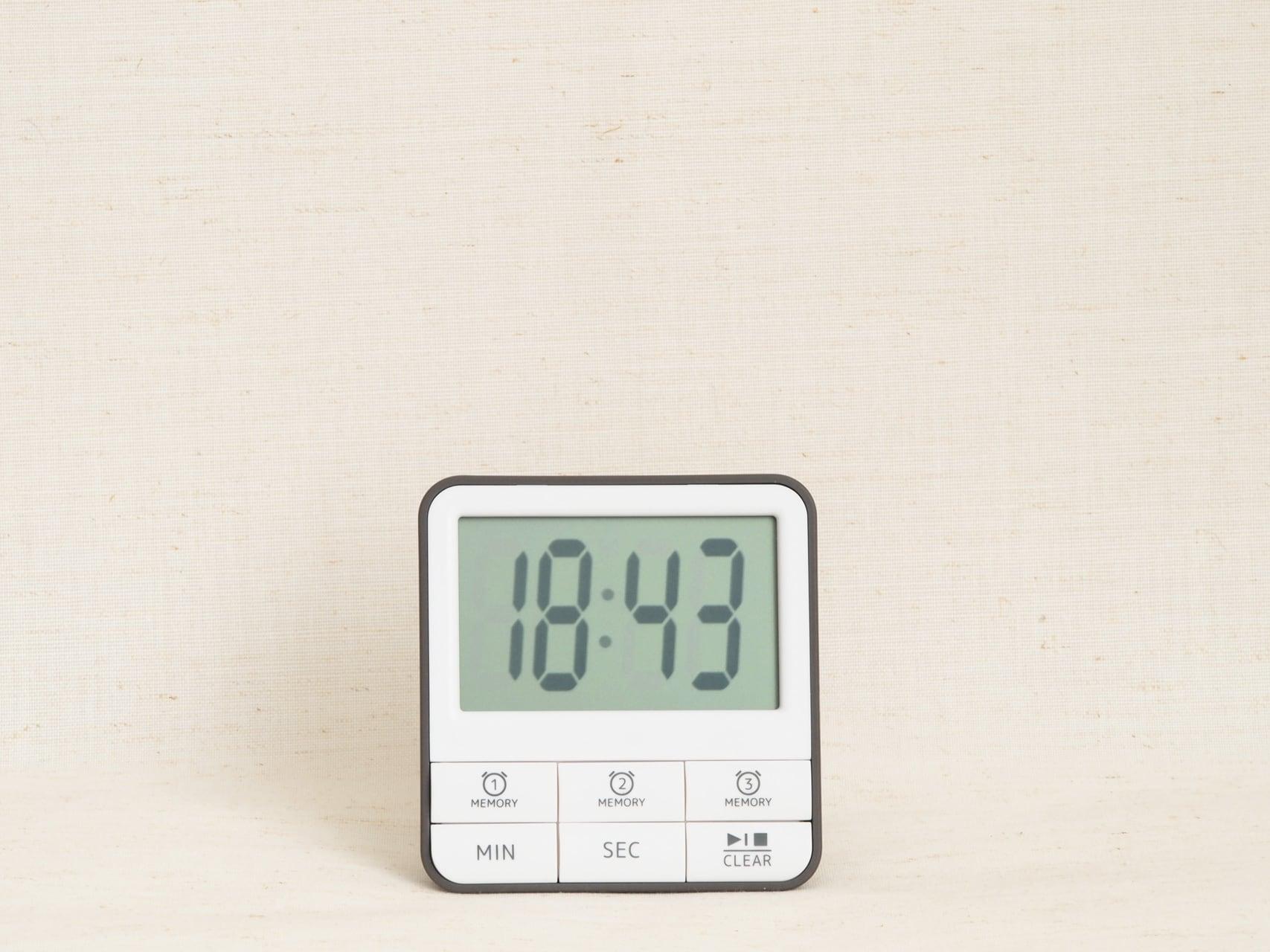 HAKARU ハカル / キッチンタイマー Memo-Clock timer メモクロックタイマー ホワイトグレー KT162