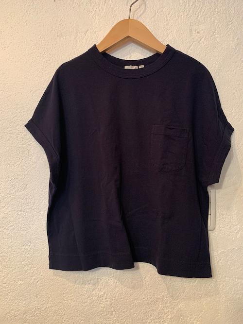 days/アメリカンドライ天竺ポケットTシャツ  ネイビー