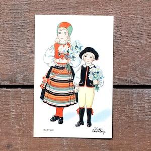 民族衣装カード「RÄTTVIK(NATIONAL BILDER - 04)」《201213-04》