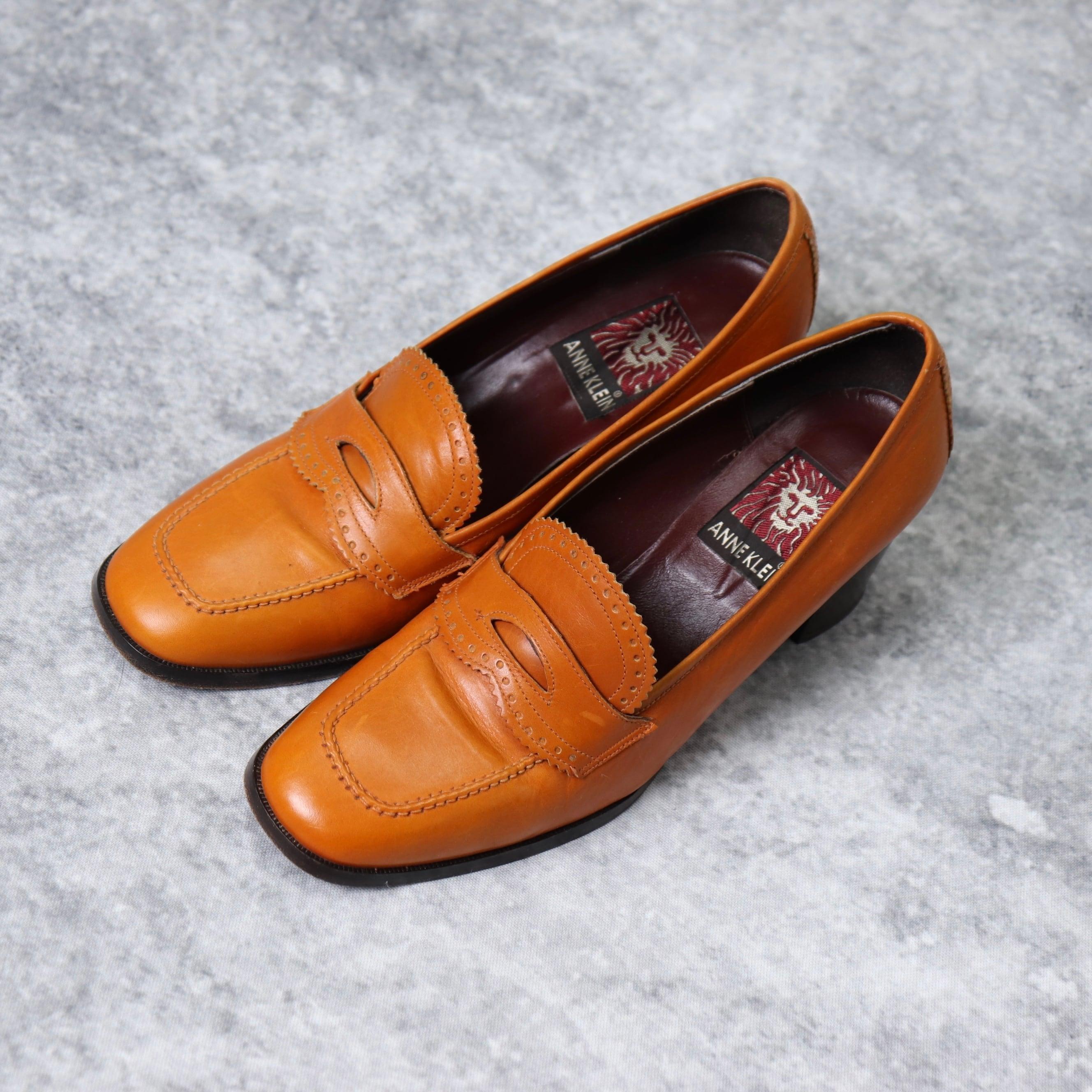 """アメリカ """"アン・クライン"""" イタリア製 ユーズド ヒールローファー  USA Used """"ANNE KLEIN"""" Heel loafers Made in ITALY"""