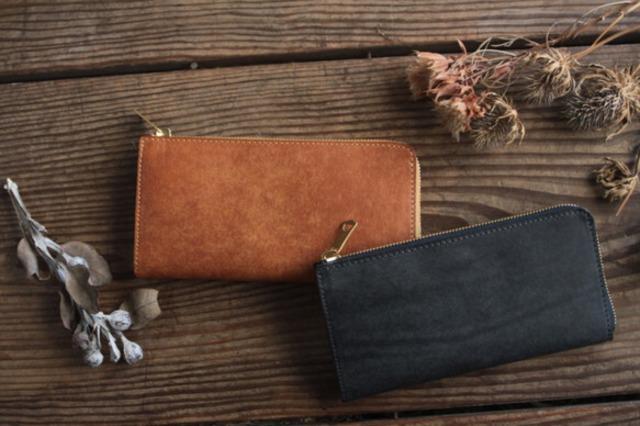 [lapido-bicolor] Ltype fastner long wallet / 長財布