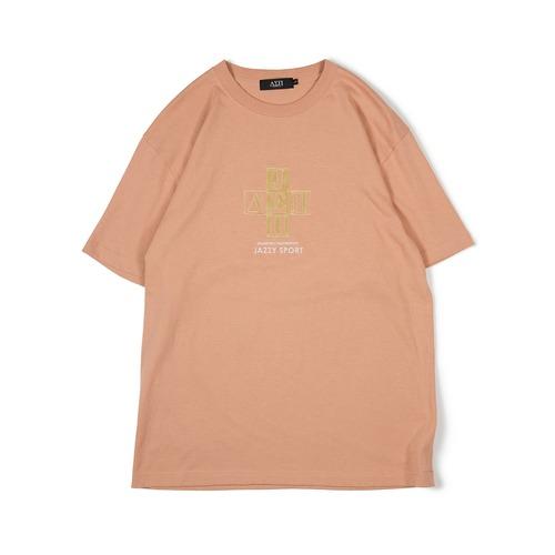 【残りわずか】Jazzy Sport x Diaspora skateboards Cross Logo Tシャツ (Camel)