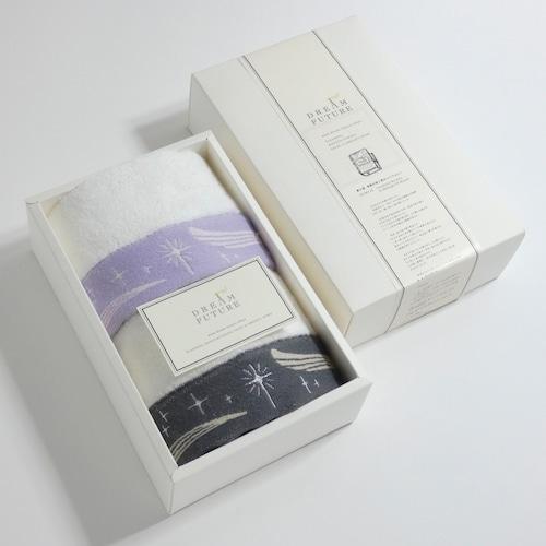 無撚糸(むねんし)高級Hand Towel 2枚SET  PURPLE / Twinkle GRAY