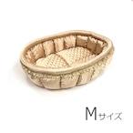 ふーじこちゃんママ手作り ぽんぽんベッド(サテンゴールド)Mサイズ【PB18-062M】