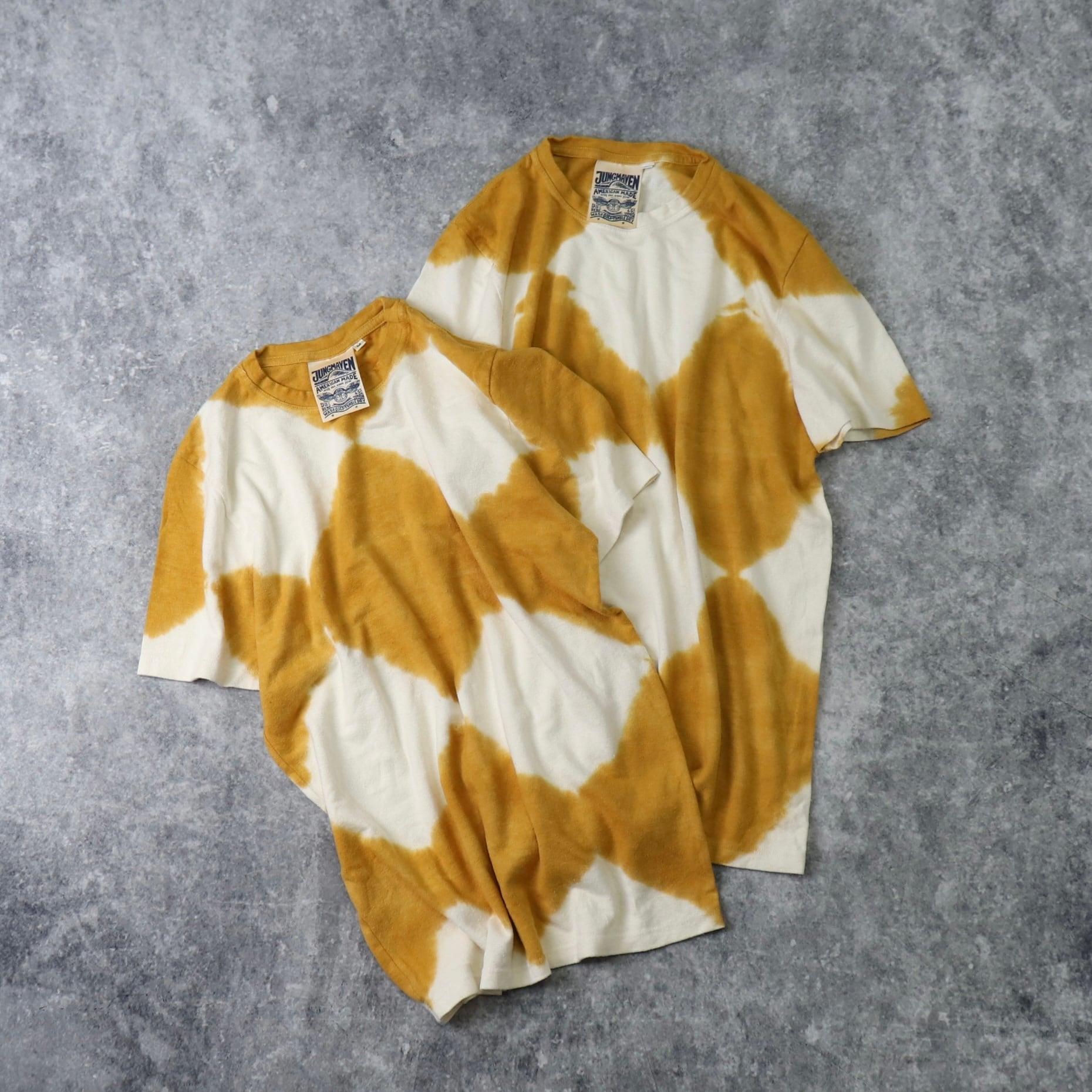 【 JUNGMAVEN  /  ユングメイブン 】 ヘンプ x オーガニックコットン 半袖 タイダイTシャツ メンズ 新品 A440