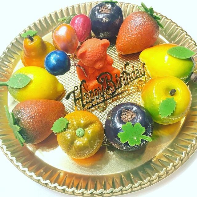 誕生日フルーツケーキ盛り合わせ