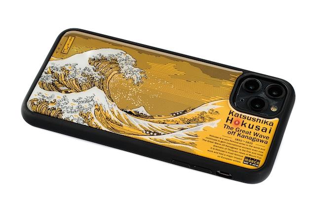 FLASH 神奈川沖浪裏 基板アート iPhone 11 Pro Maxケース【東京回路線図A5クリアファイルをプレゼント】