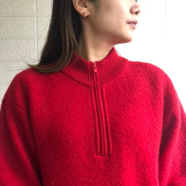 80s L.L.bean half zip knit