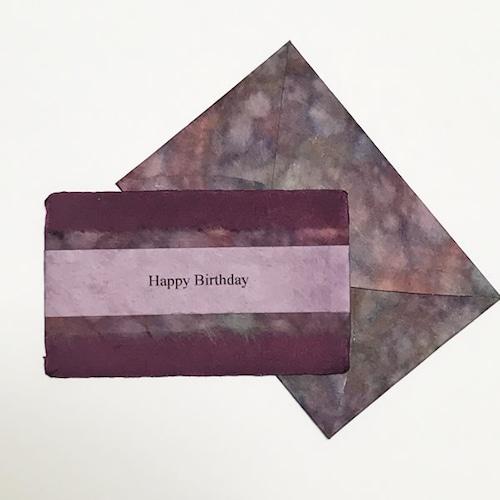 和紙の誕生日カード(Birthday024)