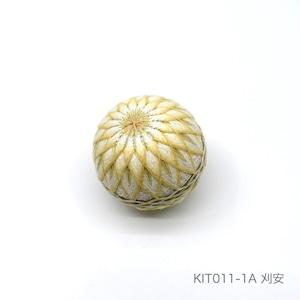 手まり制作キット「16菊かがり」(テキストあり)_KIT011-1