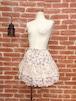 姫系花柄の薔薇園レースフリルスカート ピンク
