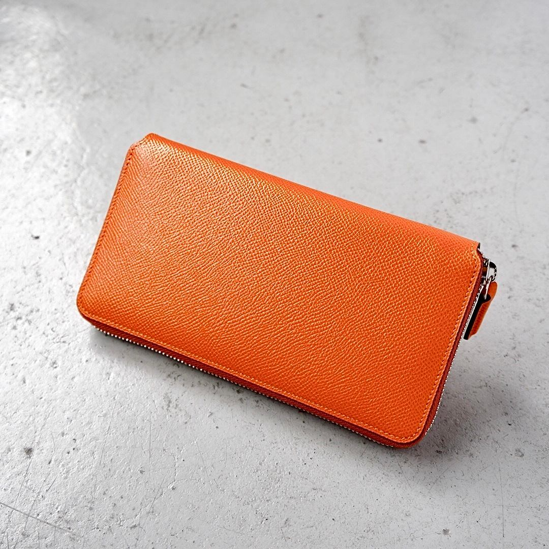 ラウンドファスナー長財布 <Sualocin> オレンジ