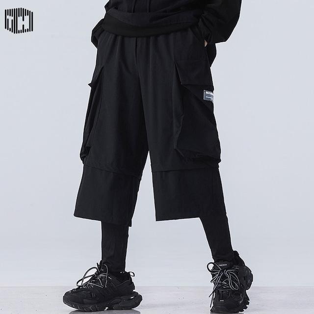【匯田工業シリーズ】★ズボン★ カジュアルパンツ ボトムス 男女兼用 ブラック 黒い 大きいポケット
