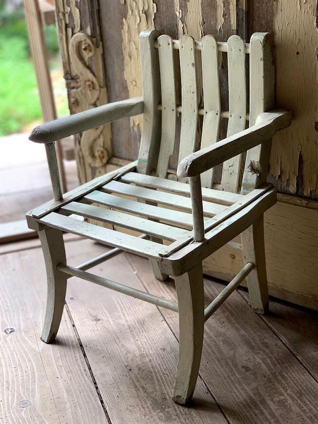ホワイトペイント 木製ドールチェア ミニガーデンチェア