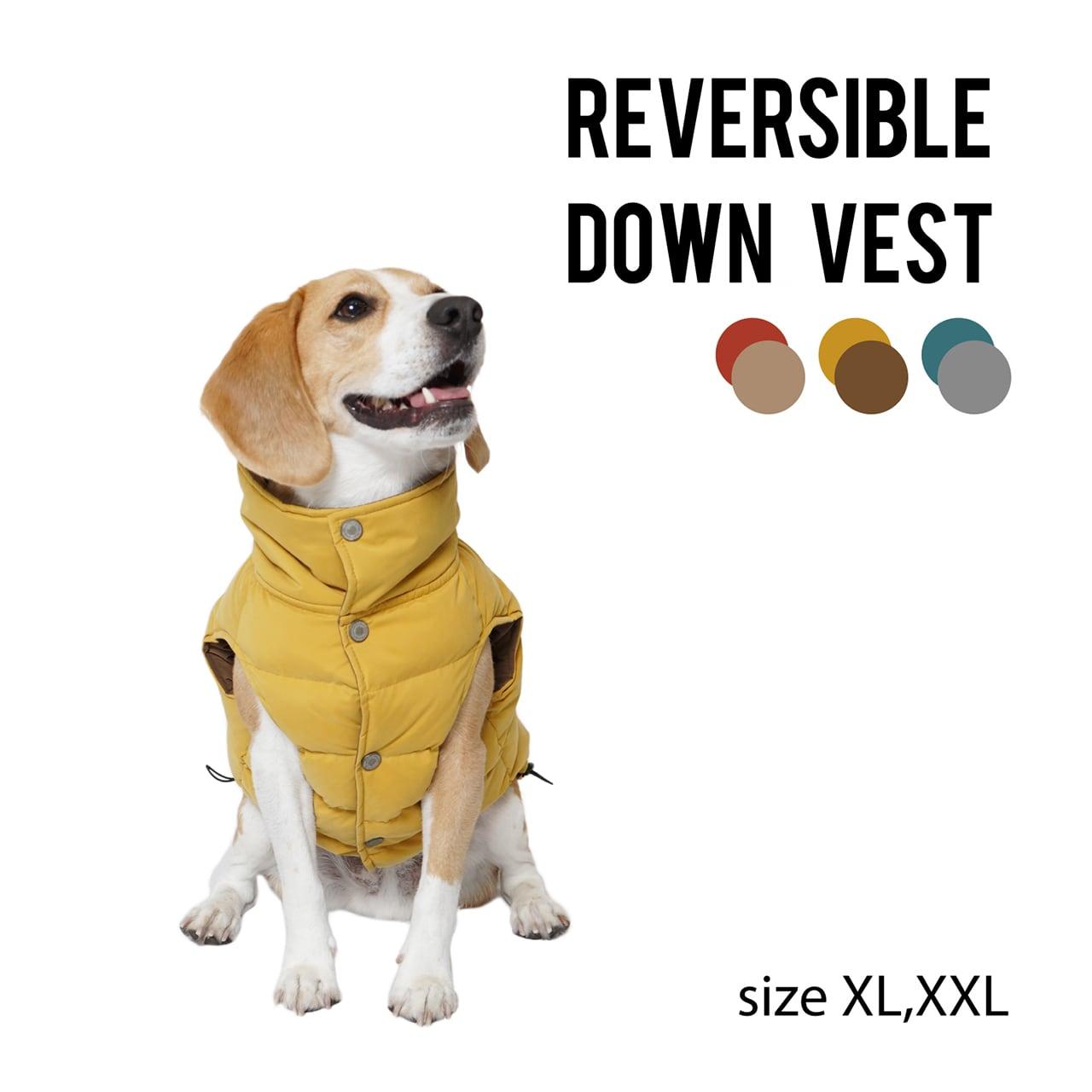 REVERSIBLE DOWN VEST(XL・XXL) リバーシブルダウンベスト