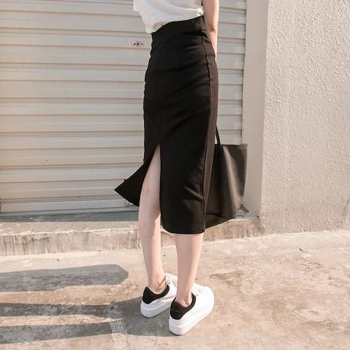 【送料無料】シンプル ブラック スカート sk01