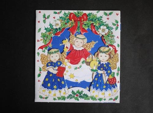クリスマス立体ポップアップカード 3人の天使
