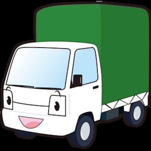 働く車(幌付きミニトラック)