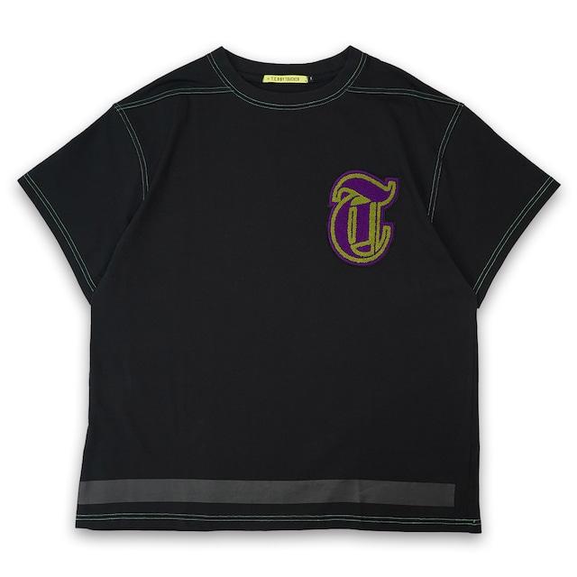 T.C.R CHENILLE LOGO S/S TEE - BLACK