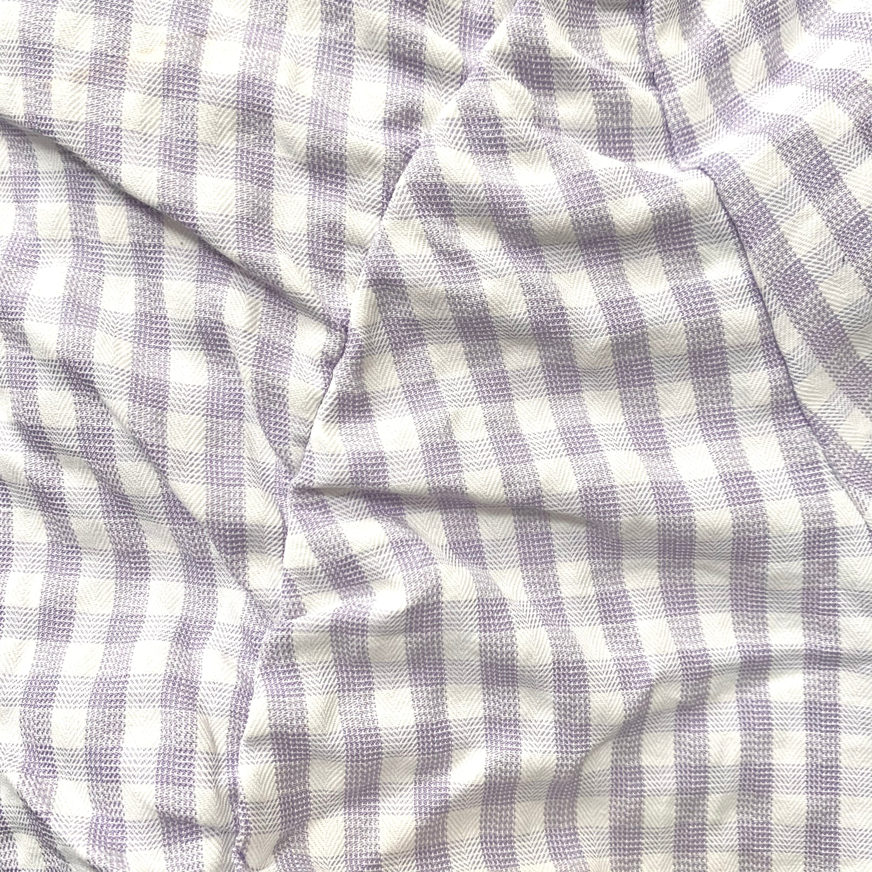 【Renonqle】gingham off-shoulder blouse
