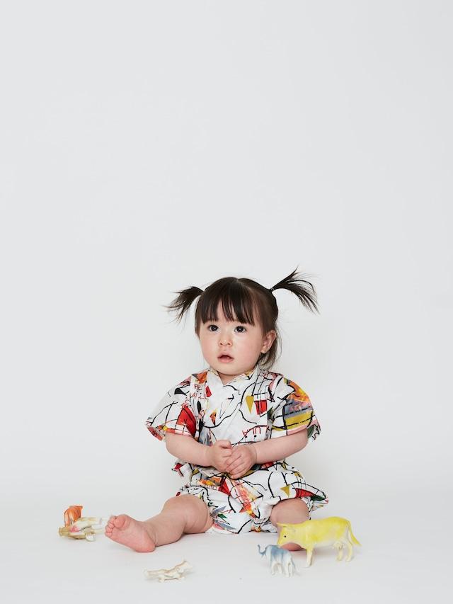 【21SS】WOLF&RITA(ウルフアンドリタ)-JINBEI BABY BEBOP[12-18M / 18-24M]甚平 ロンパース 祭