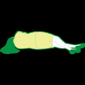 横向きで倒れている女性①
