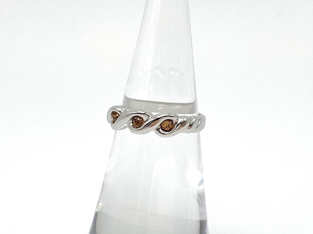 Parfum ring ー silver x coffee brown ー