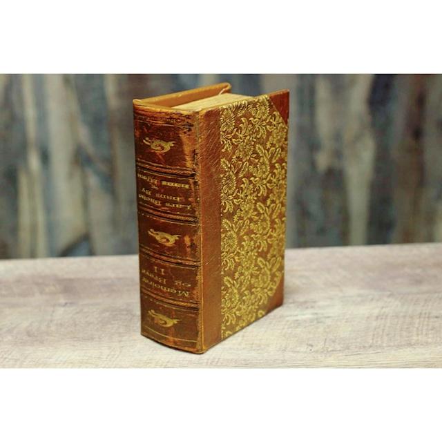 Bookボックス【ブラウン S】/シークレットボックス/アンティーク雑貨/浜松雑貨屋C0pernicus