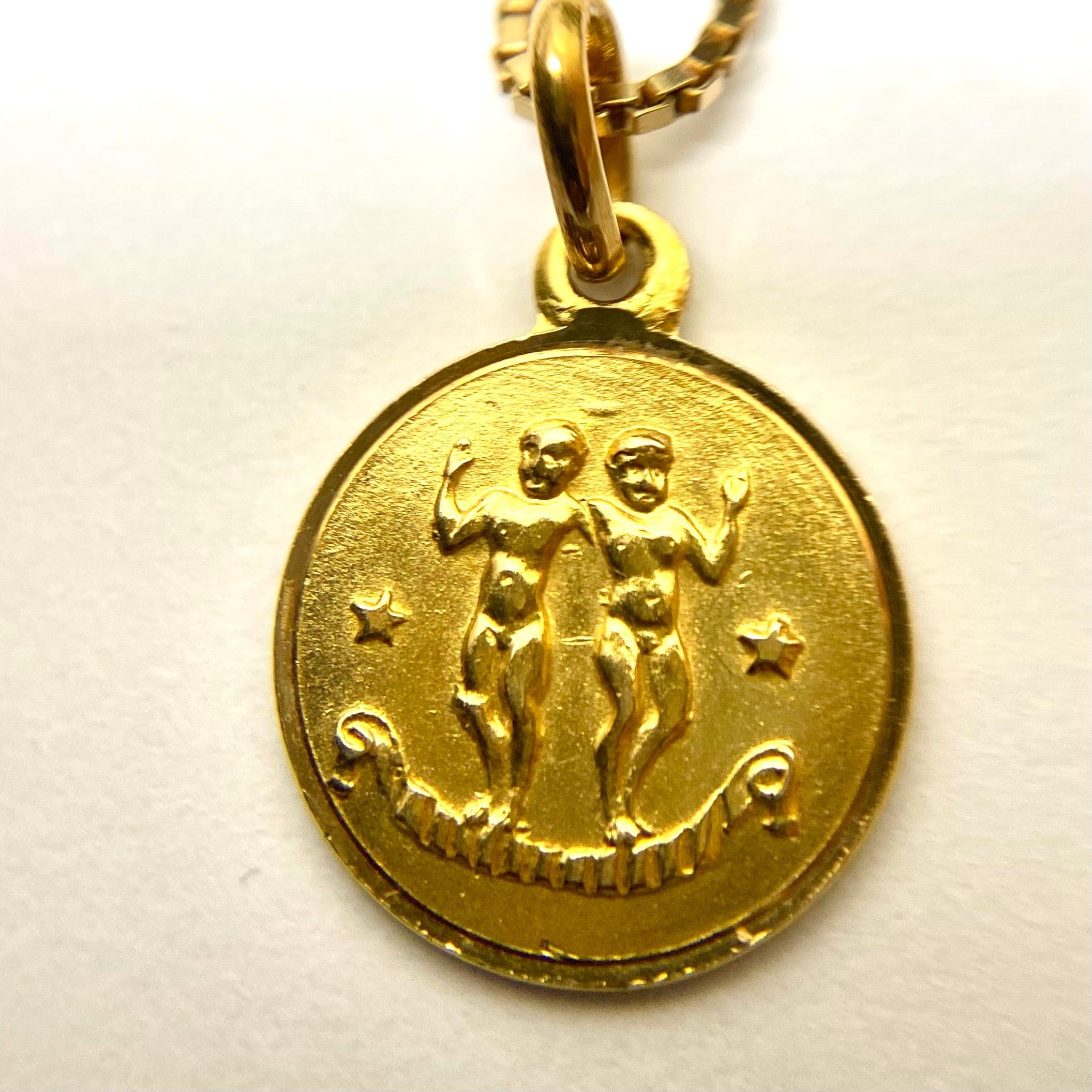 イタリア セミヴィンテージ 天使のコイン k18 ペンダント