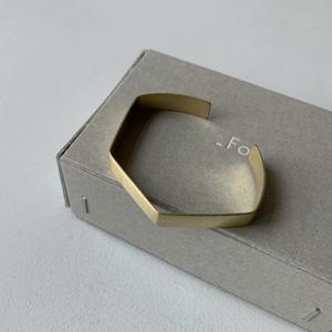 【_Fot】plate bangle 8mm_angula/0901a8