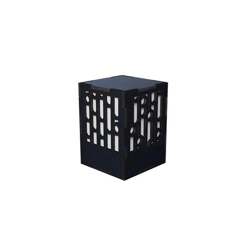 ミニ行灯 竹 - 置き型照明 Sサイズ ブラック