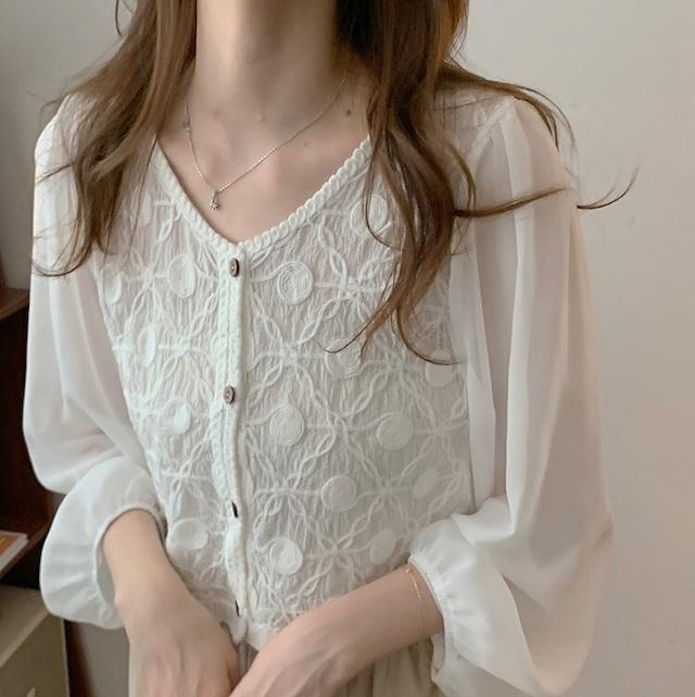 Lace design tops KRE948