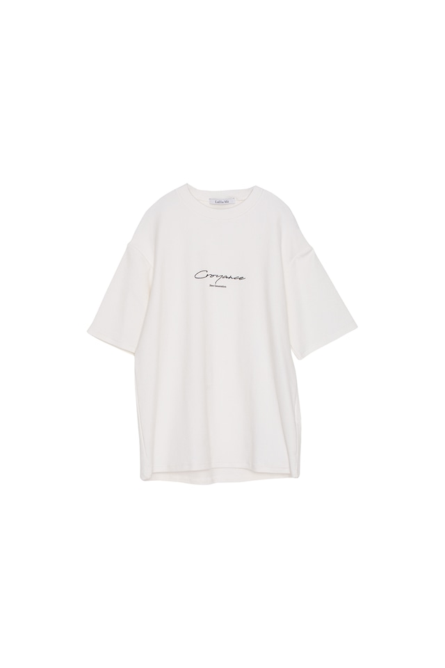 ピーチスキンロゴプリントTシャツ< off >