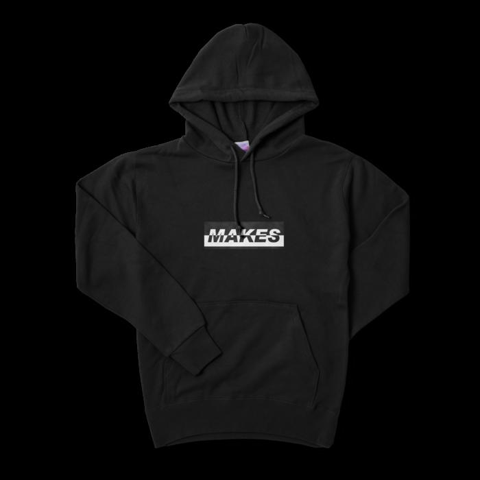 MAKESパーカー(ブラック)10.0オンス