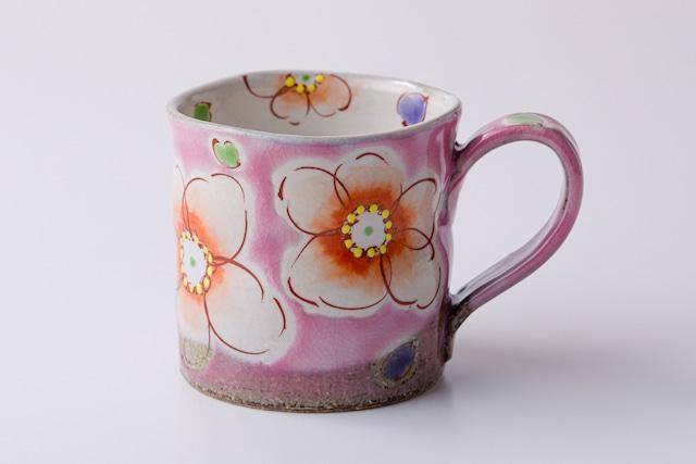 マグカップ ピンク花うらら