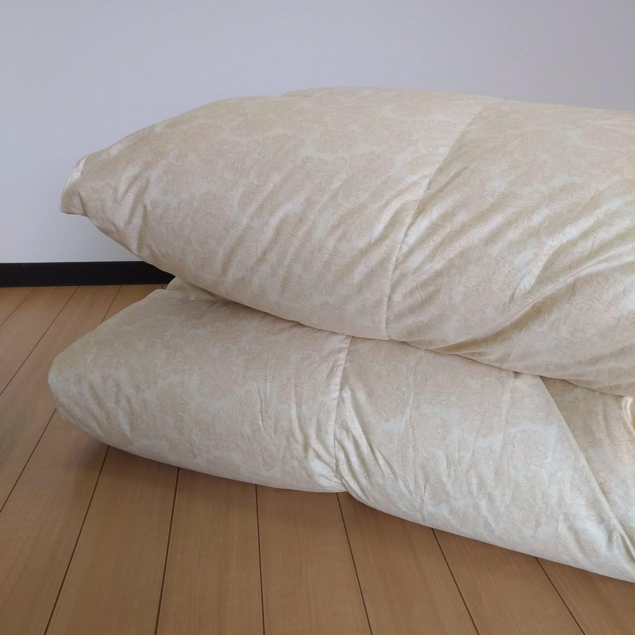 Q-羽毛掛ふとん 【マース】 クイーン カナダマザーホワイトグースダウン−CONキルト (80サテン/1.9kg)